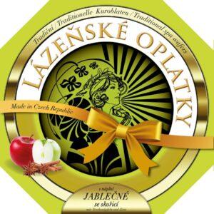 Lázeňské oplatky jablečné se skořicí 175g – sypané