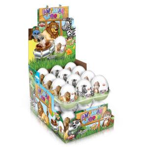 ANIMAL WORLD – čokoládová vajíčka s překvapením 25g