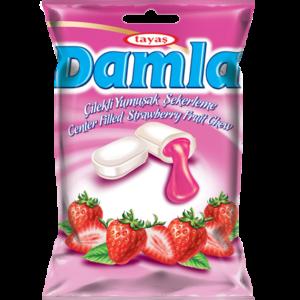 DAMLA karamely plněné – jahodové 90g