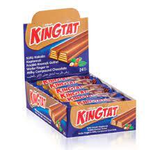 KING TAT – oplatek s oříškovou náplní v mléčné polevě 30g